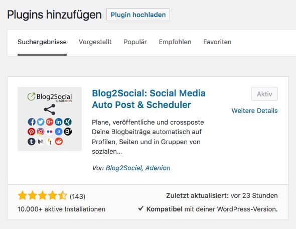 Social Media Automatisierung für WordPress 4