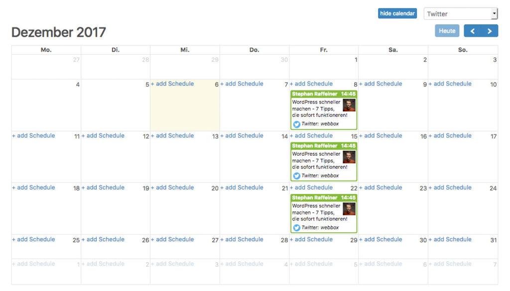 Social Media Automatisierung für WordPress 9