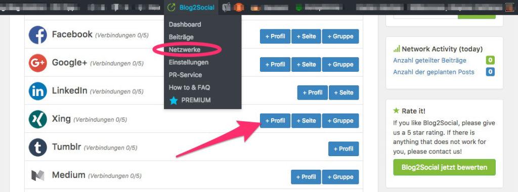 Social Media Automatisierung für WordPress 5