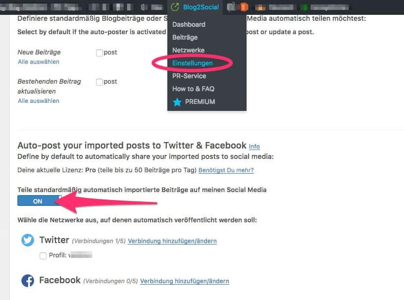 Social Media Automatisierung für WordPress 6