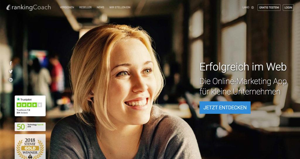 rankingCoach ist eine Online-Marketing App für kleine Unternehmen.
